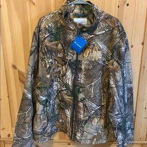 Columbia Camo Jacket RealTree XL fleece inside NWT